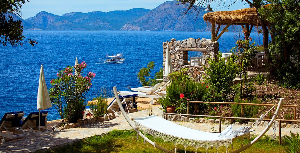 Set in a stunning private bay in Faralya