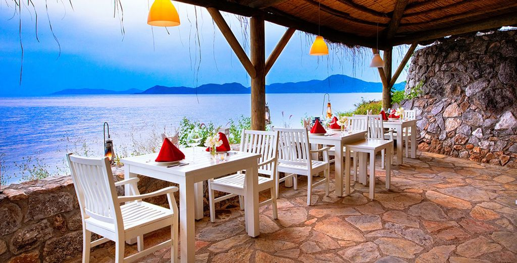 Which can be enjoyed overlooking the Mediterranean