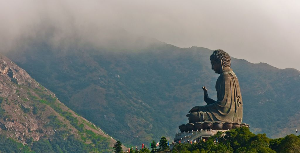 Or pay a visit to Lantau Island and feast your eyes on the mystic Big Buddha