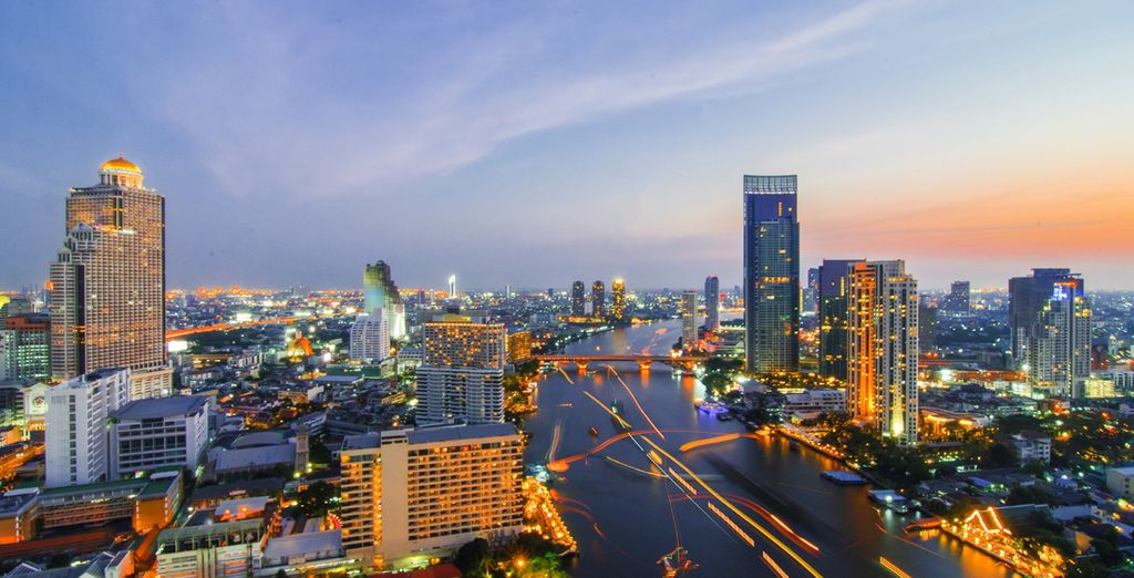 Then move onto another fascinating city – the brilliant Bangkok