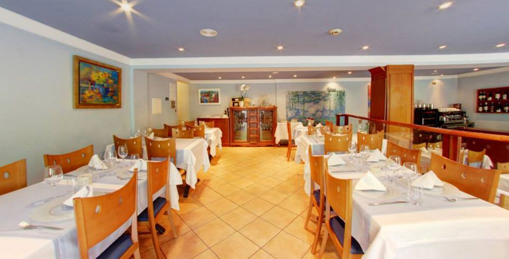Then return for a delicious meal in cosy surroundings