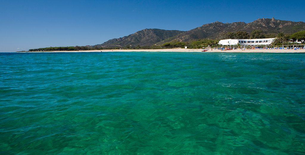 On Sardinia's beautiful coastline
