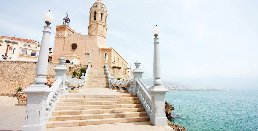 In the charming city of Sitges
