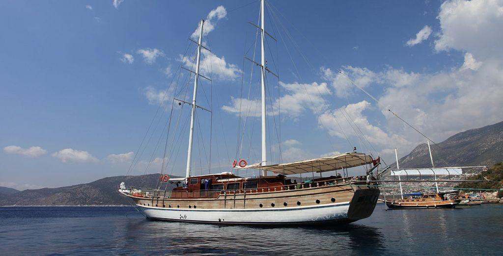 On board this deluxe gulet, Cankaya II - Cankaya II Gulet Cruise 4* Southern Aegean