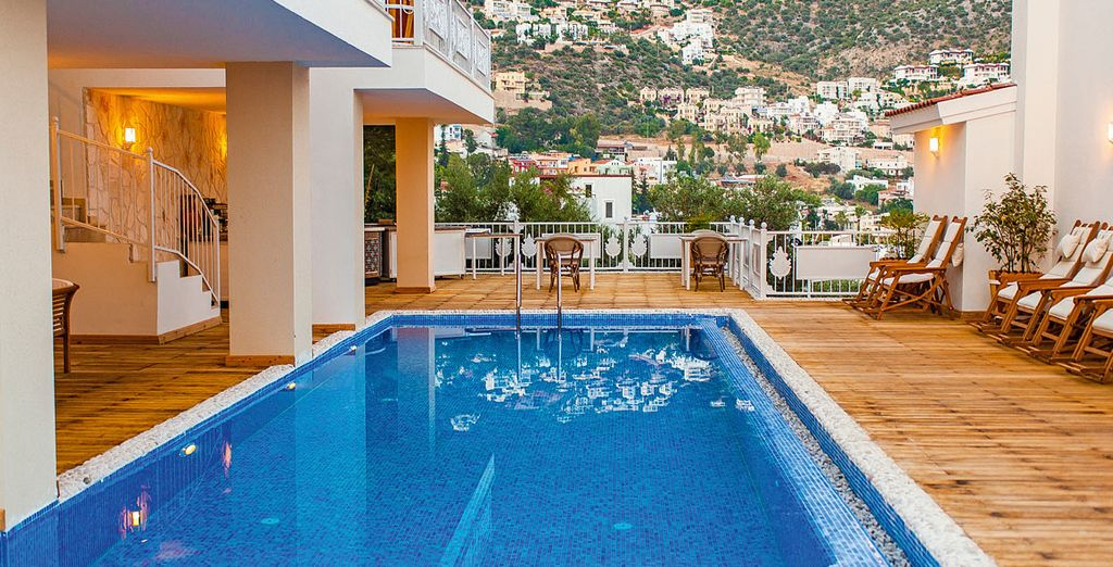 Then cool off in the sparkling pool for the perfect end to your holiday adventure