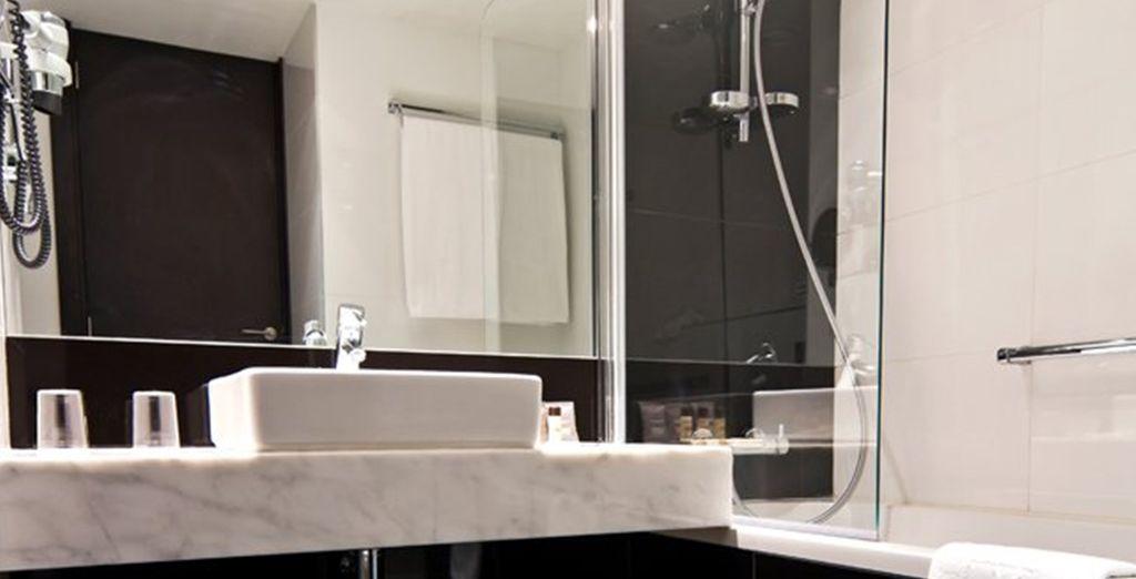 And luxurious bathroom