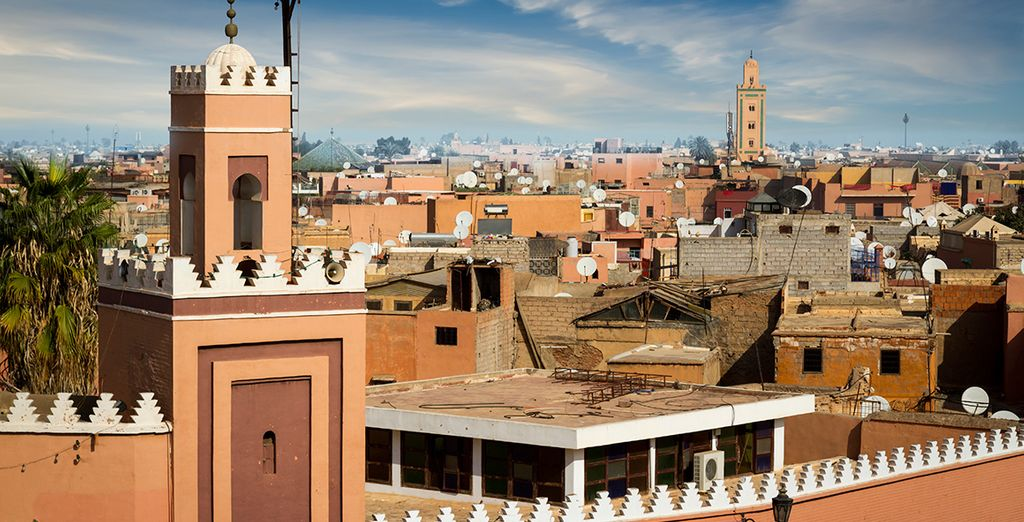 Neslted within the ancient Medina - Riad Badi Marrakech