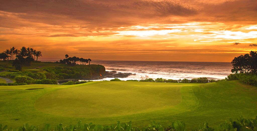 Or play a round of golf with this incredible backdrop