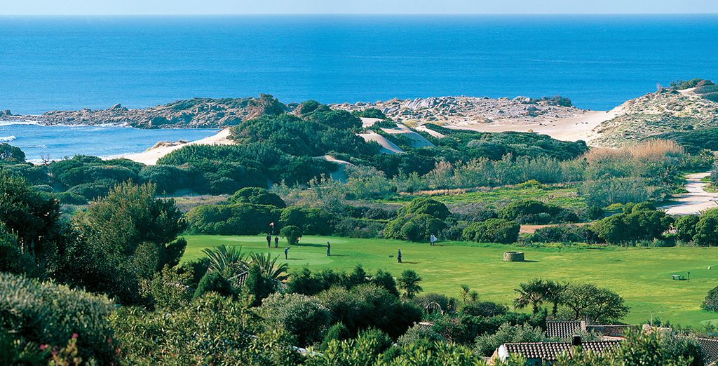 Play a round of golf, or explore the stunning local area