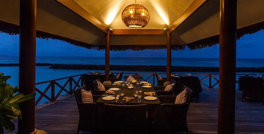 Dine al fresco and take in the cool ocean breeze