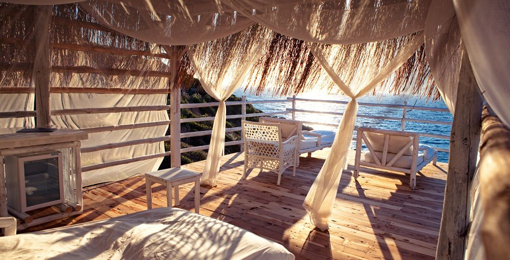 Enjoy one of the private cabanas
