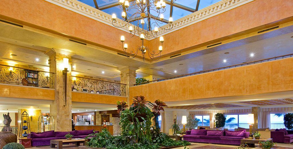 Enjoy the opulent decor