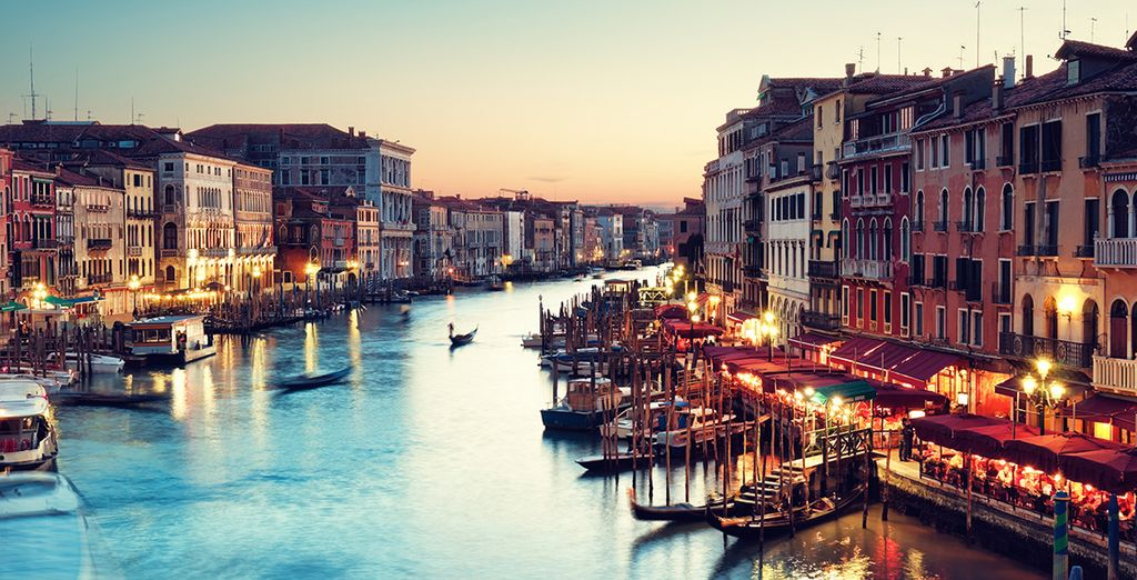Beginning in the beautiful and romantic city of Venice...