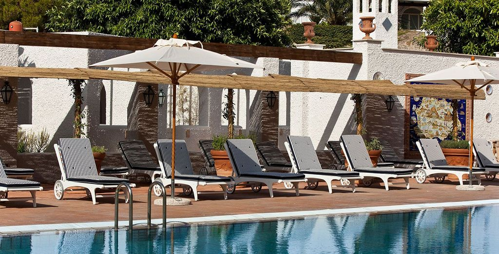 Then head to the pool to relax