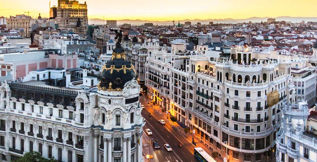 Then head out and explore the electric city of Madrid