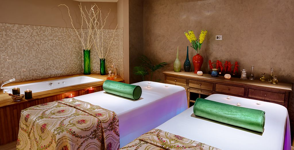 Or escape the heat of the day in the cool spa