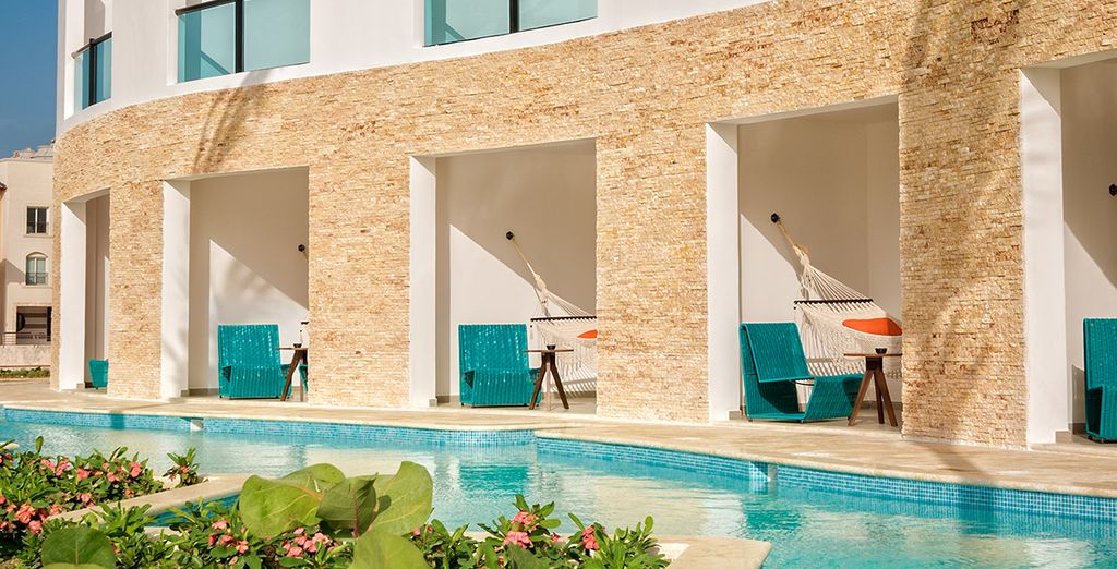 With access to a private pool off the room terrace