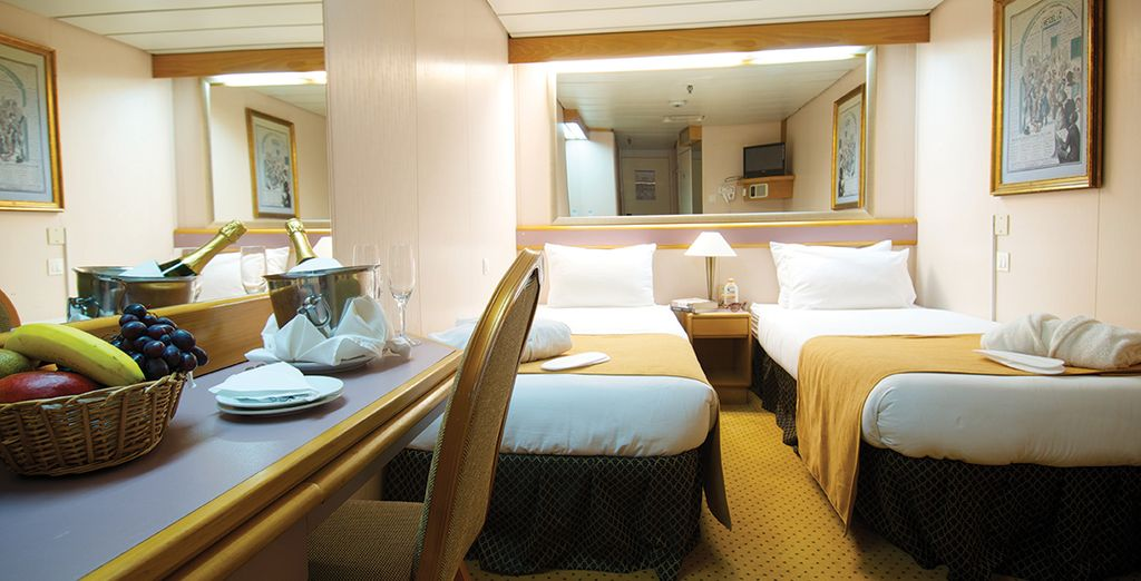 With choice of an Inside Stateroom