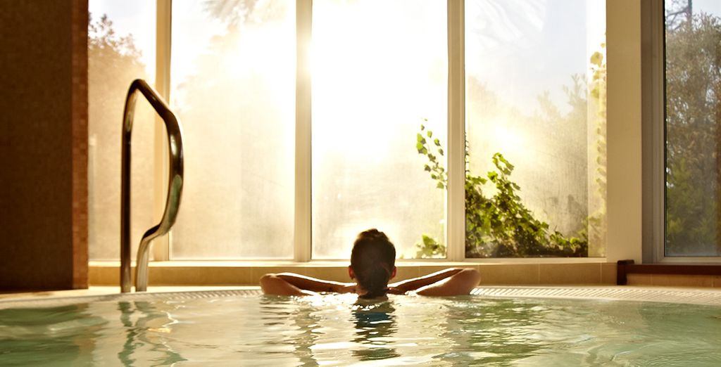 Chill out with some me-time at the award-winning spa