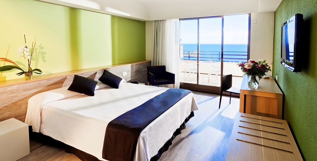 Relax in your spacious and comfortable room