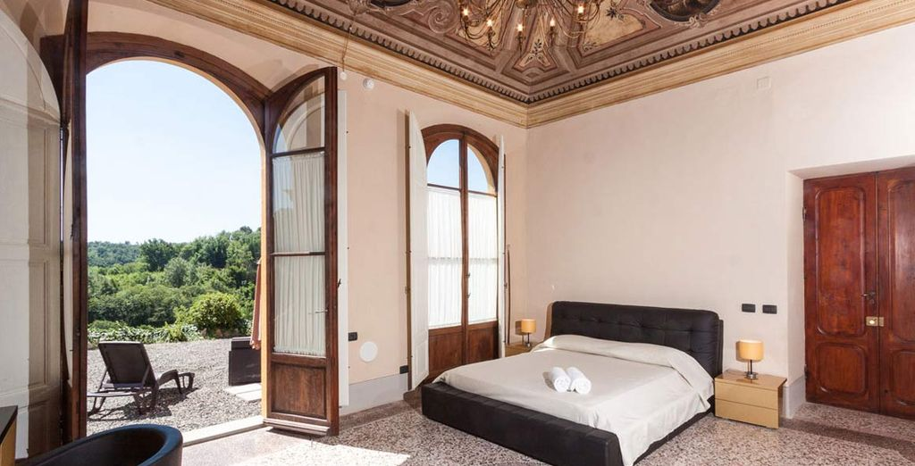 Your Suite has beautiful views over the Tuscan hills
