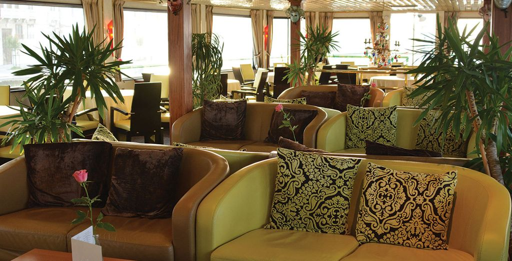 A comfortable, classically decorated ship