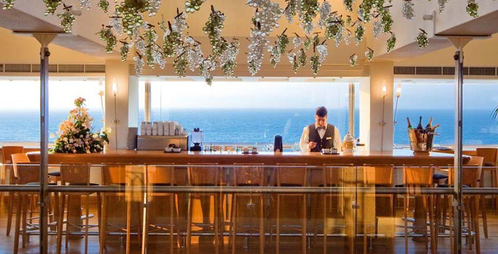 At a range of elegant bars and restaurants