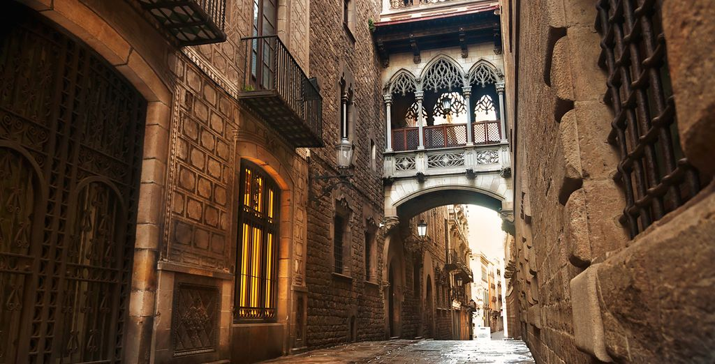 Stroll through the historic streets of the Gothic Quarter