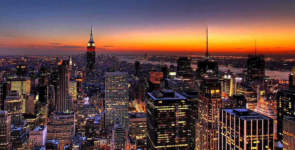 Take in the city's famous skyline