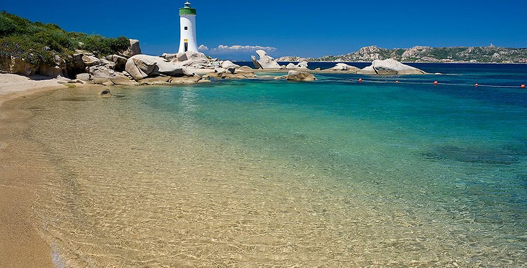 Or heat things up and bathe on the golden sands of Sardinia