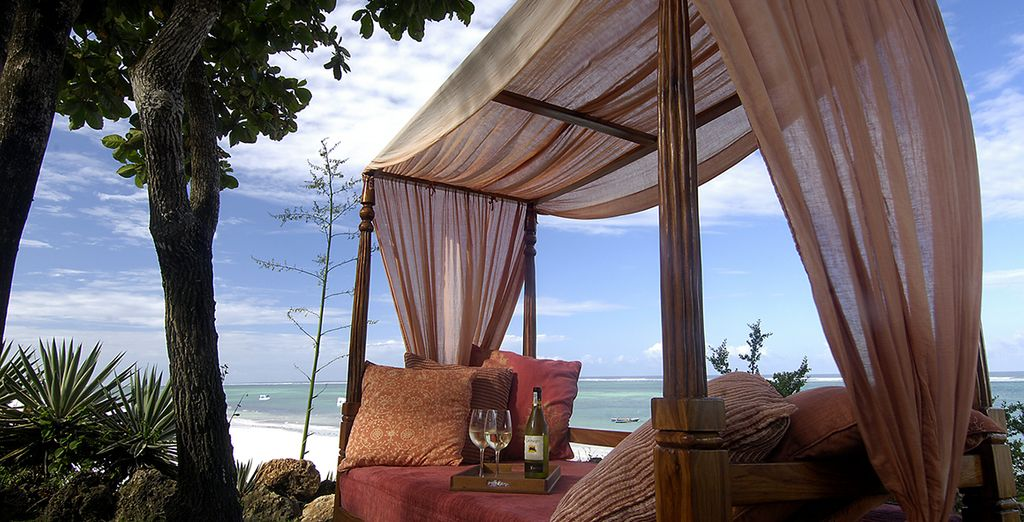 Enjoy a glass of wine to the sound of the ocean