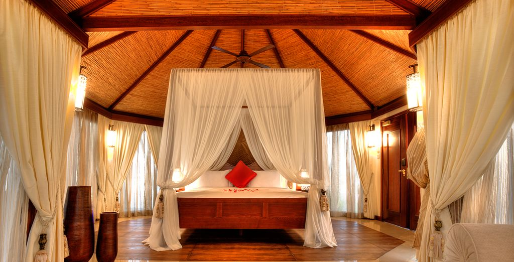 Relax in your tented pool villa