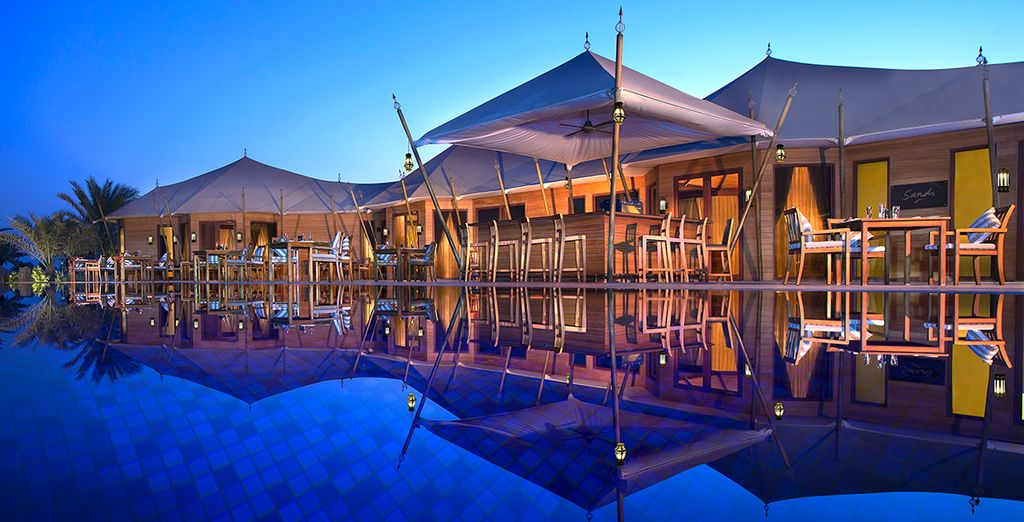 Dine by the pool waters