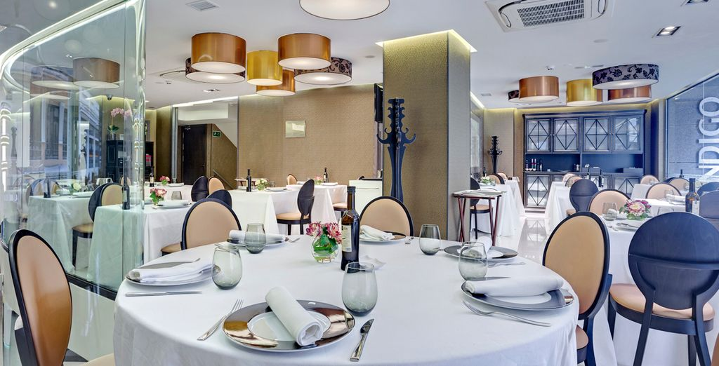 Dine in absolute sophistication in the gourmet restaurant