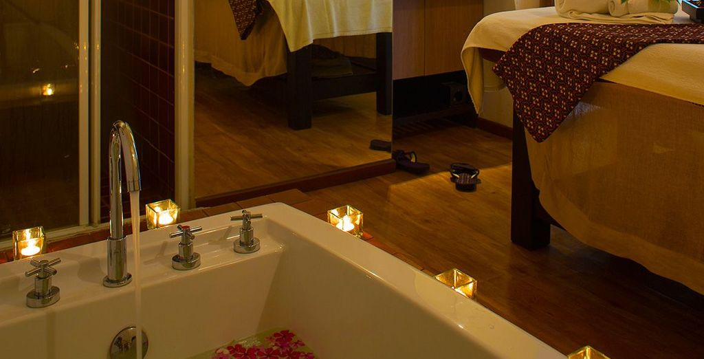 Pamper yourself at the tranquil spa
