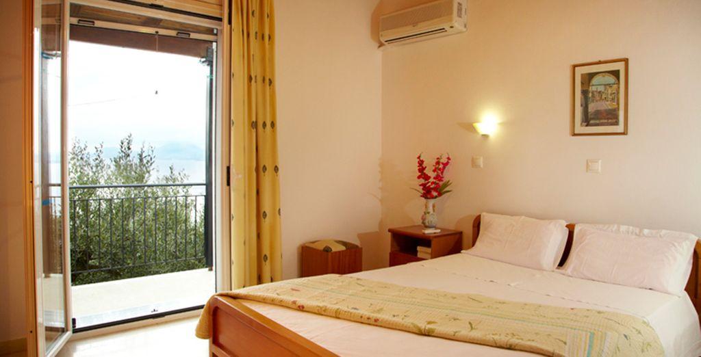 Each villa has two bedrooms (Villa Katina)