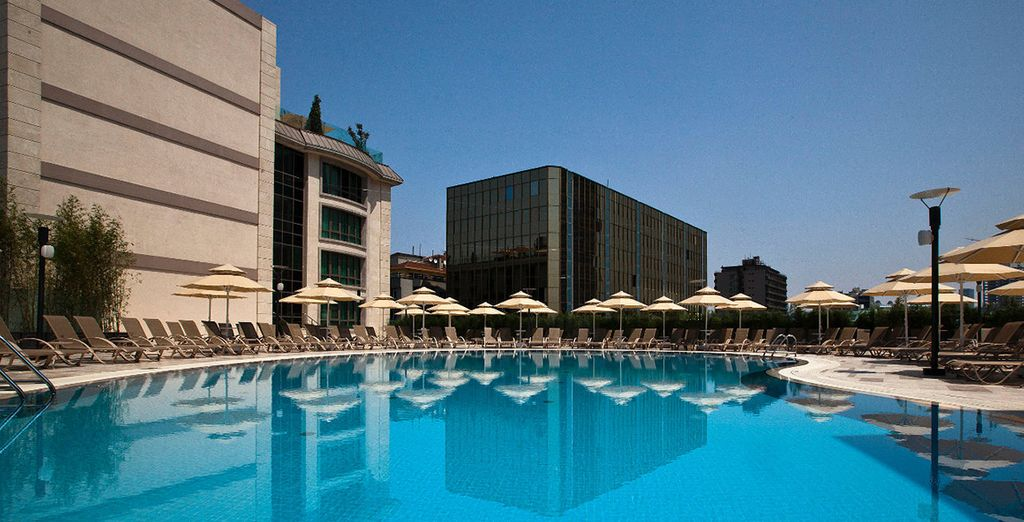 Take a dip in the pool to refresh after sightseeing