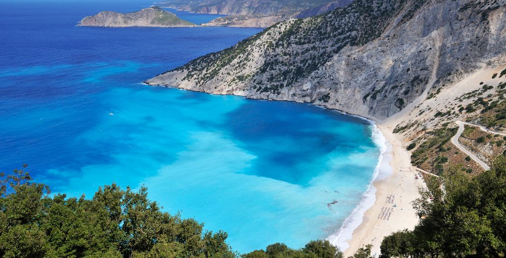 Travel further and bathe on the island's most famous beach - Myrtos