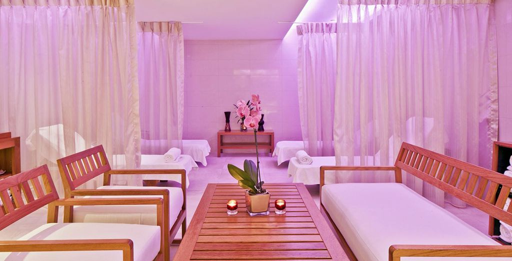 With a beautiful spa