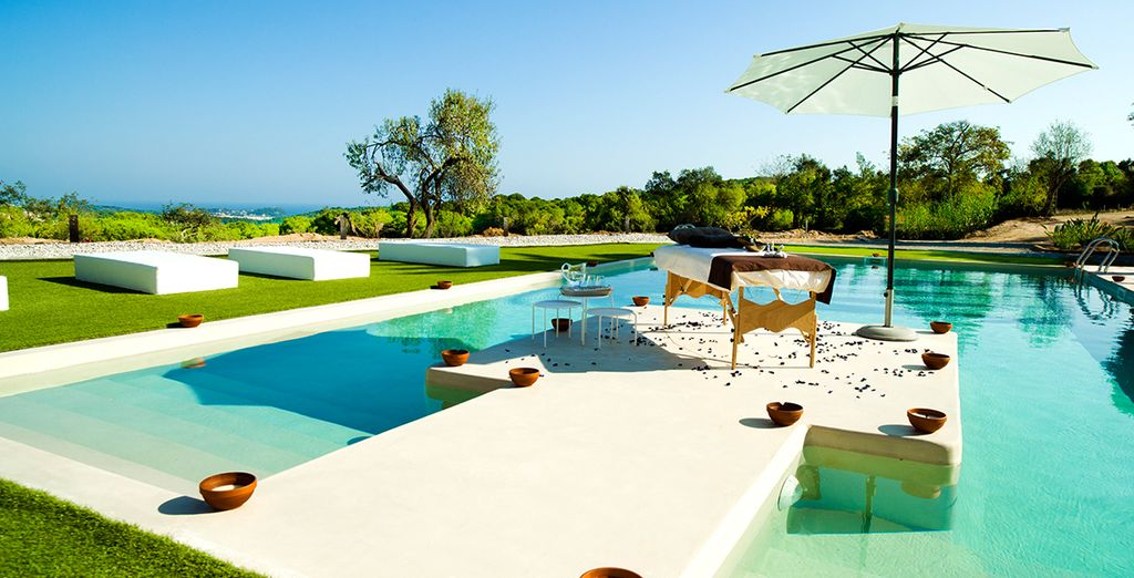 Or take a dip in the sparkling pool overlooking the Mediterranean