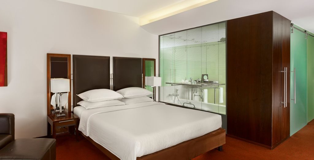 Meets supreme comfort in the spacious rooms