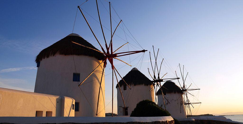On the cosmopolitan island of Mykonos