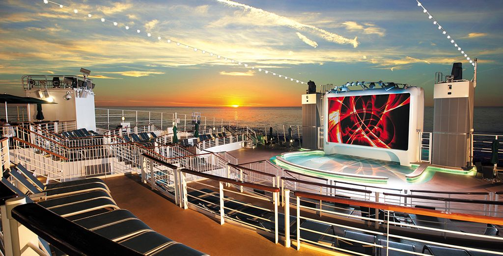 Then step aboard your luxury cruise ship...