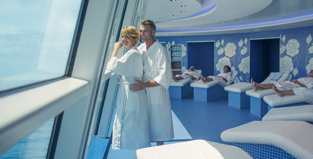 Or treat yourself to a massage at the spa - with panoramic views
