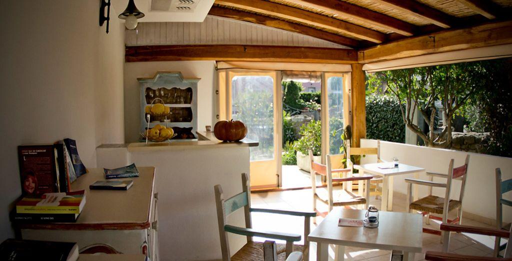 Admire the sun-filled interiors