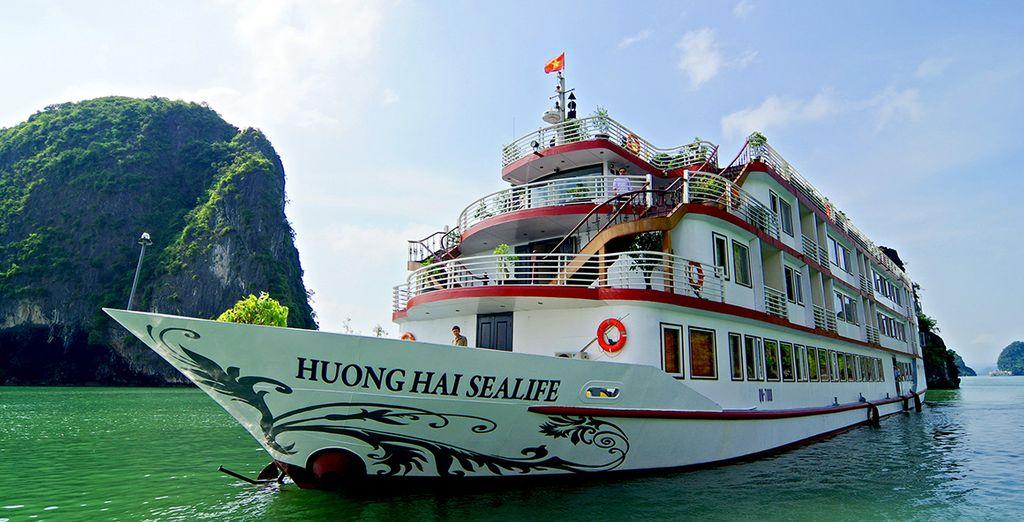 Such as a cruise through Ha Long Bay - a UNESCO World Heritage Sight