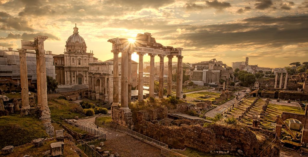 Explore the ruins of the Roman Empire in Rome, Italy