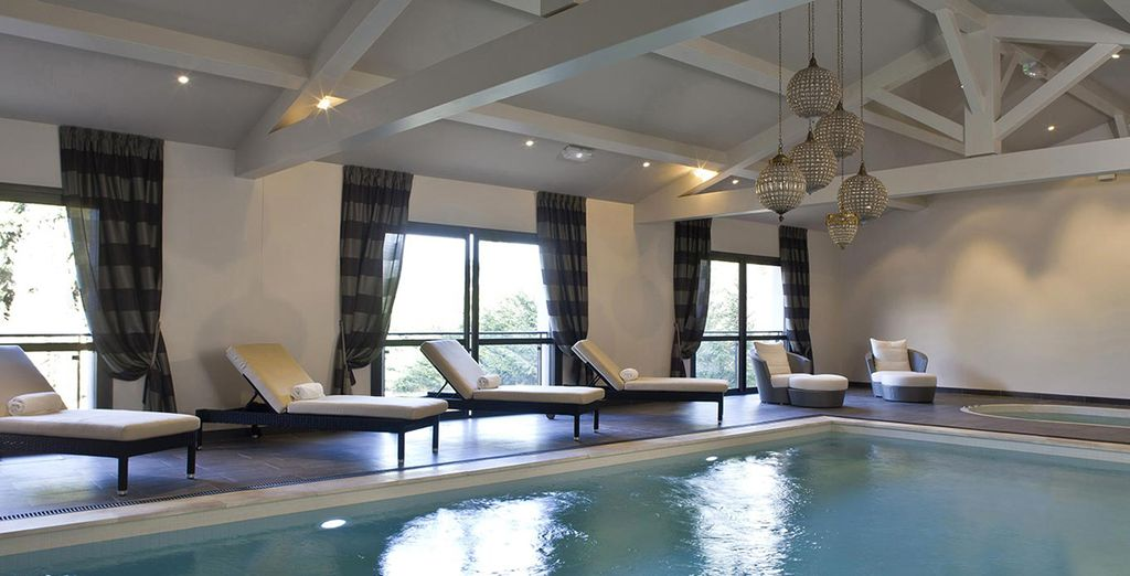Delight yourself with a dip in the heated indoor pool