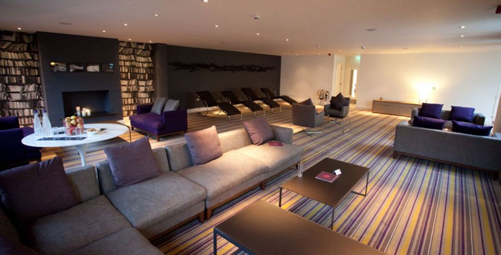 Unwind in the chillout area
