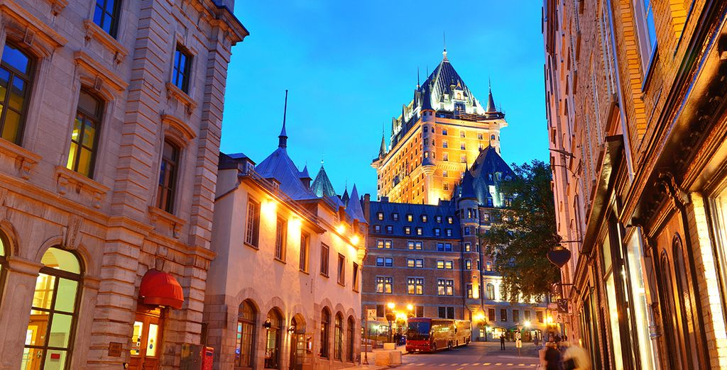 You will take in the French charms of Quebec..